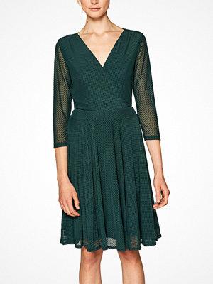 Esprit Klänning Mesh With Flock Dress