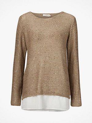 Tröjor - Cream Jumper Poppy Knit Pullover