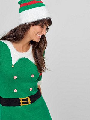 Festklänningar - Ellos Julklänning Elfie + Mössa