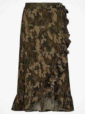 Soaked in Luxury Volangkjol Lamo Camo Skirt