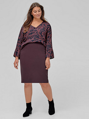 Zizzi Kjol Maddison Below Knee Skirt