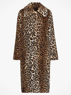 Y.a.s Fuskpäls Leo Faux Fur Coat, leopardmönstrad