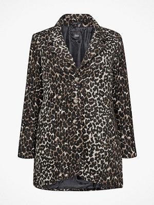 Zizzi Jacka MLeo L/S Jacket, leopardmönstrad