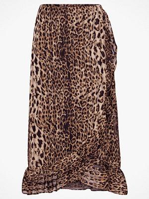 Y.a.s Volangkjol Amaze Skirt, leopardmönstrad