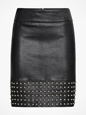By Malina Skinnkjol Aya Leather Skirt