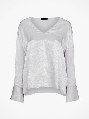 J. Lindeberg Blus Lucienne Metallic Drapy Blouse