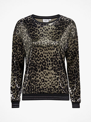 Saint Tropez Sammetströja Animal Velvet Sweater