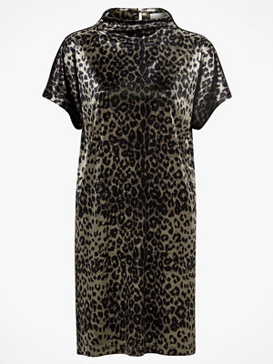 Saint Tropez Sammetsklänning Animal Velvet Dress, leopardmönstrad
