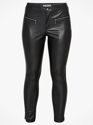 Only Carmakoma Byxor carJowar Faux Leather Pant svarta