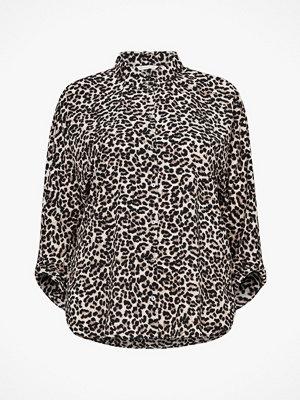 Only Carmakoma Blus carNut Shirt, leopardmönstrad