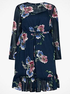La Redoute Blommig, rak klänning med volang nedtill