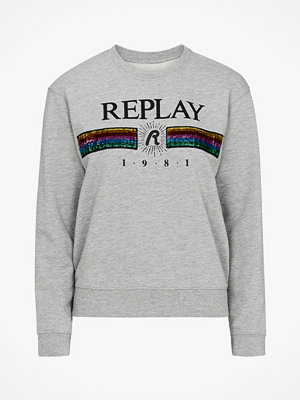 Replay Sweatshirt med paljetter