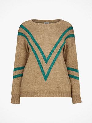 La Redoute Finstickad tröja med båtringning och grafiskt mönster