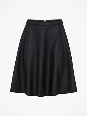 Only Kjol onlAmber Faux Leather Skater Skirt