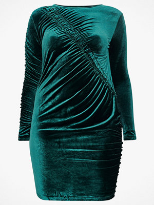 Only Carmakoma Sammetsklänning carDelta LS Bodycon Dress