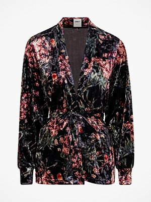 Only Sammetskavaj onlAlex Printed Velvet Blazer