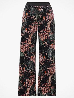 Only Byxor onlAlex x Wide Printed Velvet Pant mönstrade