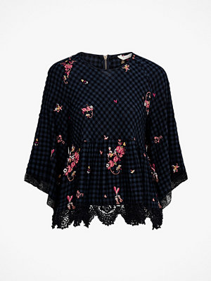Odd Molly Blus Emb Sapceroses Blouse Roundnec