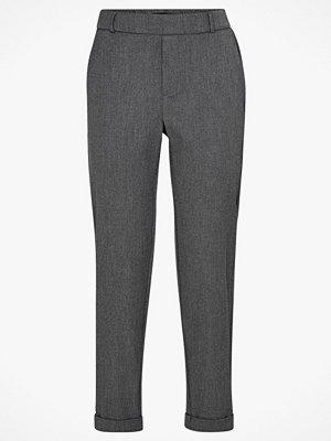 Vero Moda Byxor vmMaya MR Loose Solid Pant mörkgrå
