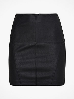 Only Kjol onlJeanett Fau Leather Short Skirt