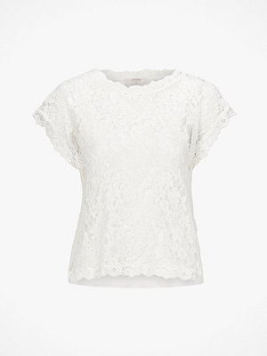 Cream Spetstopp Vivi Lace Blouse