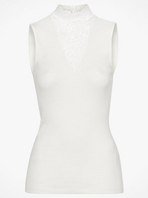 Saint Tropez Topp Lace Neck Blouse