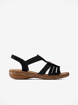 Rieker Sandaler med stendekorationer