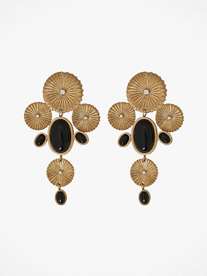 Edblad smycke Örhängen Crinkle Onyx Maxi Earrings