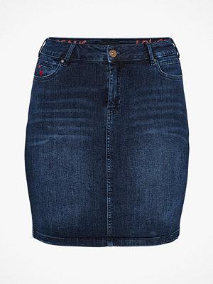Zizzi Jeanskjol Joma Knee Lenght Skirt
