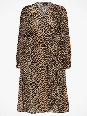 Zizzi Omlottklänning MLeofina L/S Maxi Dress