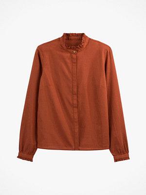 La Redoute Rak skjorta med ståkrage och lång ärm