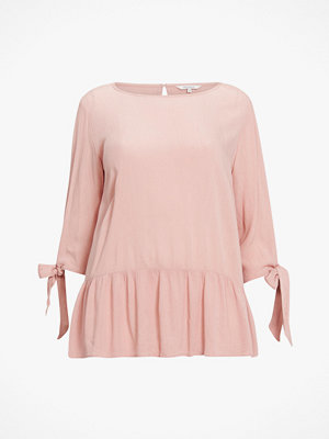 Only Carmakoma Blus carBloomy 3/4 Pleplum Blouse
