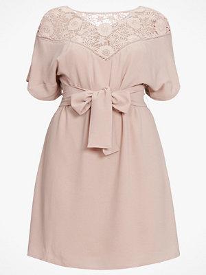 La Redoute Rak klänning med knytskärp och spets fram