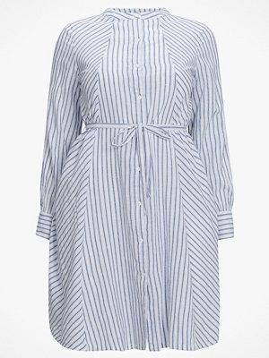 La Redoute Randig, halvlång klänning med rund halsringning och lång ärm
