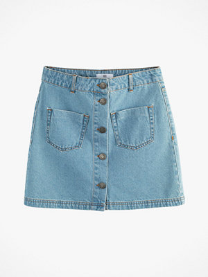 La Redoute Rak jeanskjol med två påsydda fickor