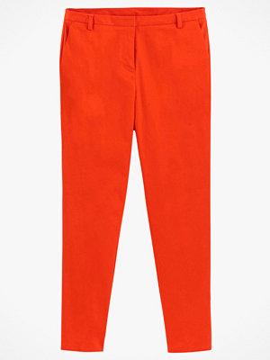 La Redoute röda byxor Smal byxa i bomullssatin med stretch