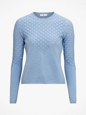 La Redoute Mönsterstickad tröja med rund halsringning och lång ärm