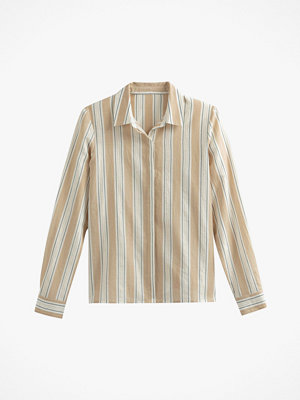 La Redoute Randig skjorta med skimrande trådar och lång ärm