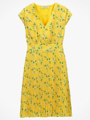 La Redoute Plisserad, blommig klänning i halvlång modell