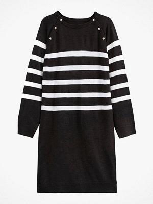 La Redoute Randig, stickad klänning med rund halsringning