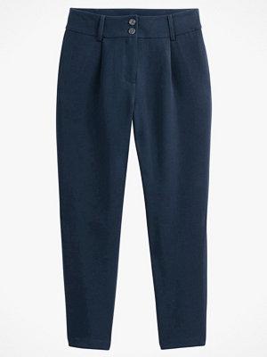 La Redoute marinblå byxor Rak, kort byxa