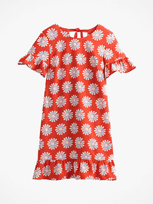 La Redoute Blommig klänning med volang nedtill, i halvlång, utställd modell