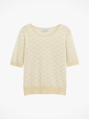 La Redoute Finstickad tröja med rund halsringning och kort ärm