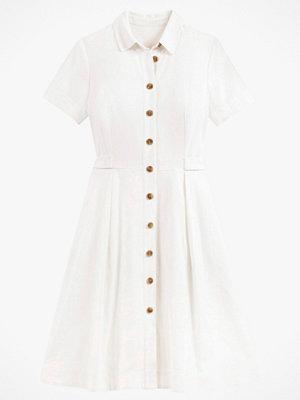 La Redoute Skjortklänning i linneblandning, med kort ärm