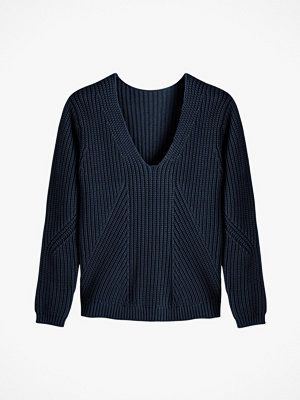 La Redoute Grovstickad tröja i bomull med V-ringning