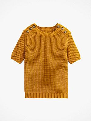 La Redoute Grovstickad tröja i bomull med kort ärm