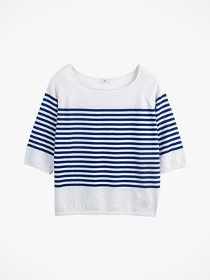 La Redoute Finstickad, randig tröja med båtringning