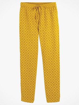 La Redoute gula mönstrade byxor Smal byxa med engelsk brodyr