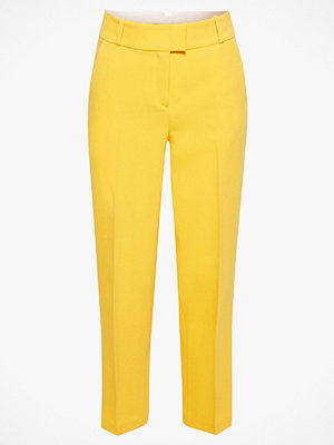 Esprit Byxor Cropped Straight Pants gula