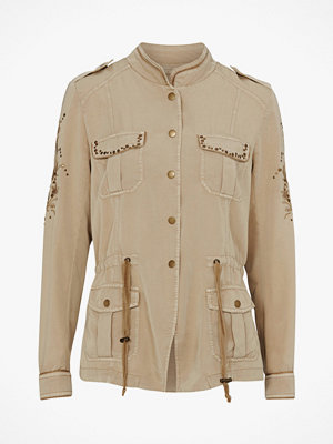 Cream Jacka Belena Embroidery Jacket